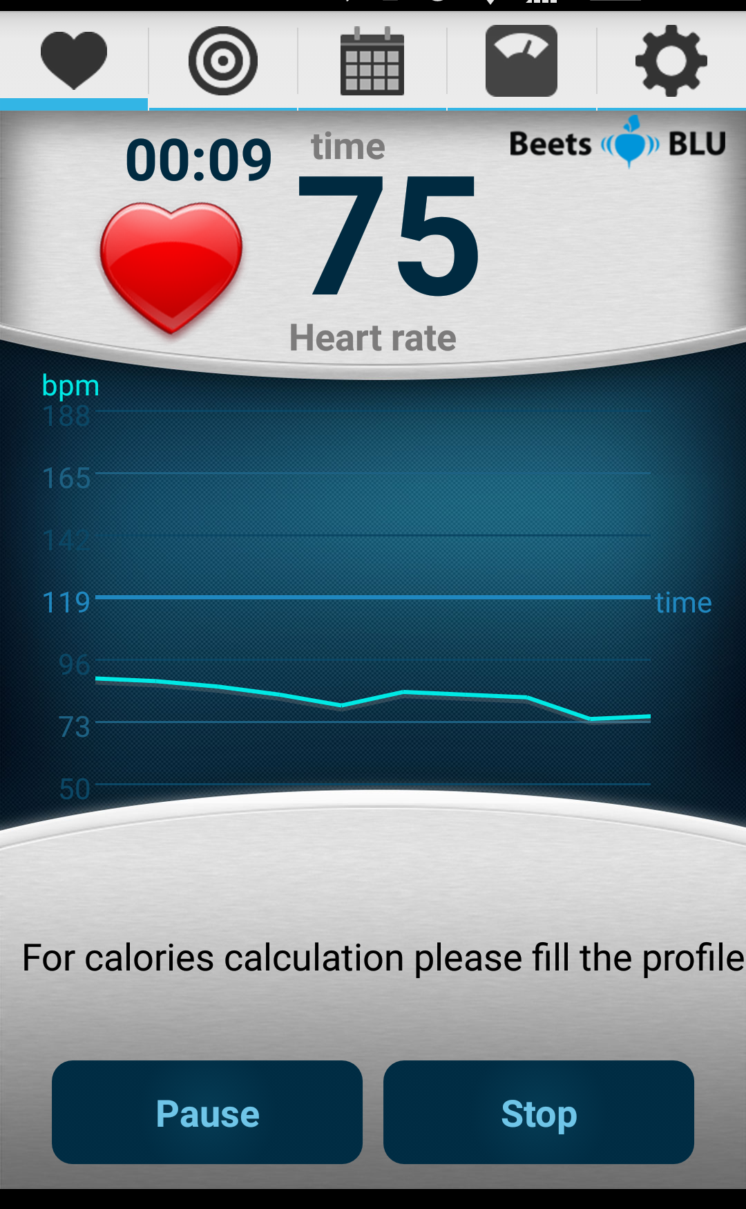 This is my resting heart rate, it's a little high, but I had just sneezed.