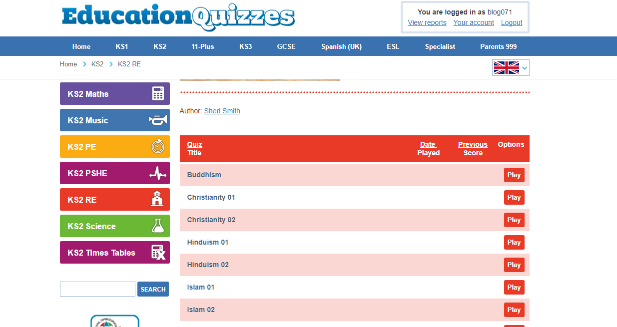 Education Quizzes Website Review