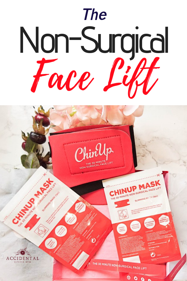 The Chin Up Mask gives you a non surgical face lift and helps rid you of your double chin without a restrictive diet. The results last a few days but they are very noticeable. Read the article to check out my before and after non-surgical face lift! #beauty
