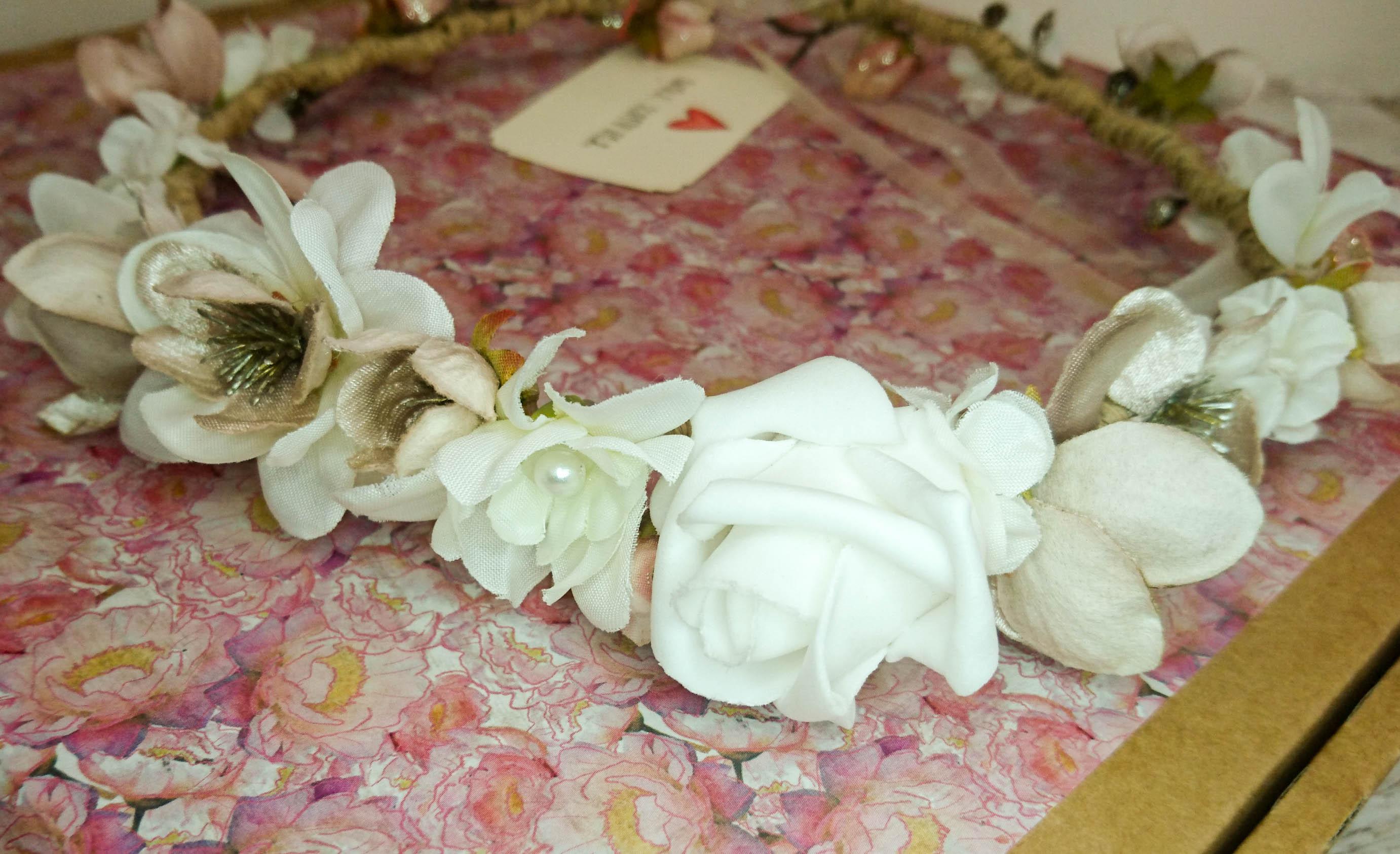 my bridal floal crown for an autumn wedding