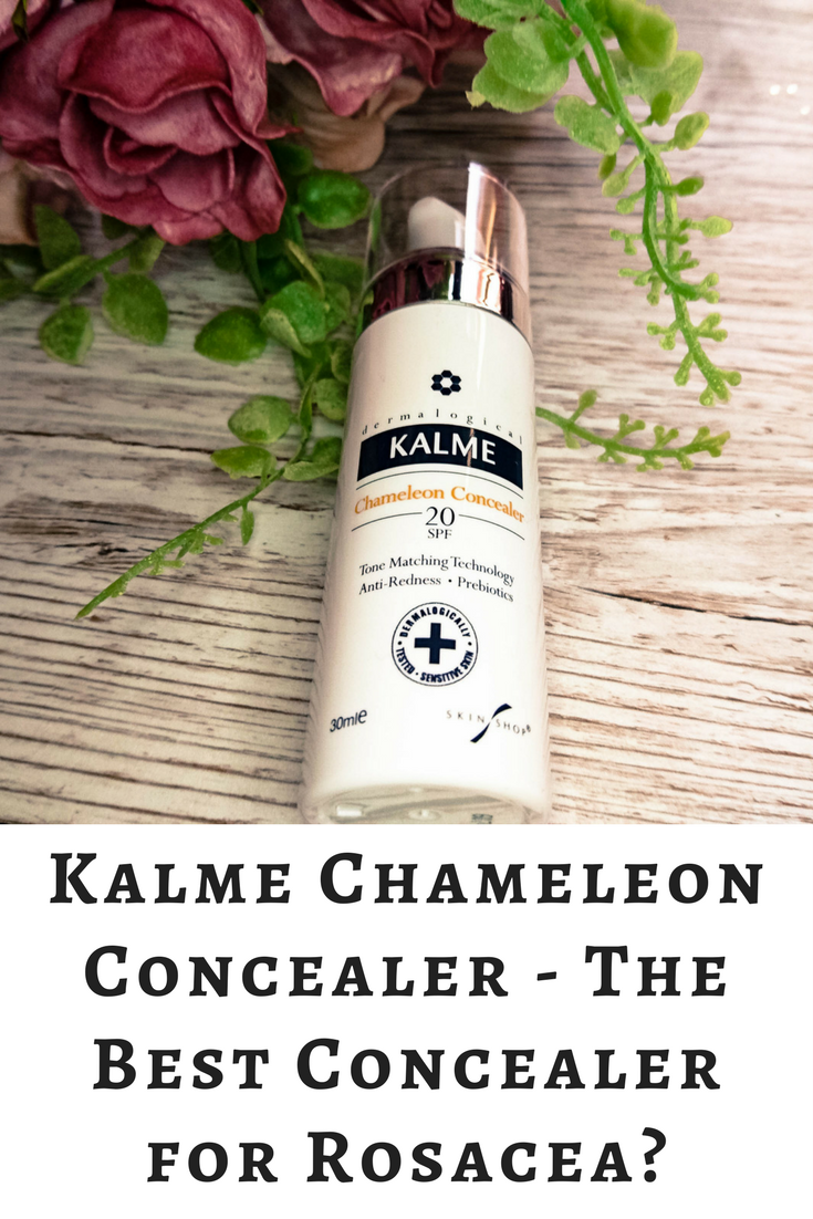 Kalme Chameleon Concealer bottle on a bleached wood background.