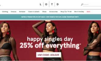 LOTD homepage snapshot