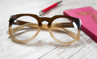 hipster glasses, oversized men's style frame, brown ombre plastic eyeglasses frames