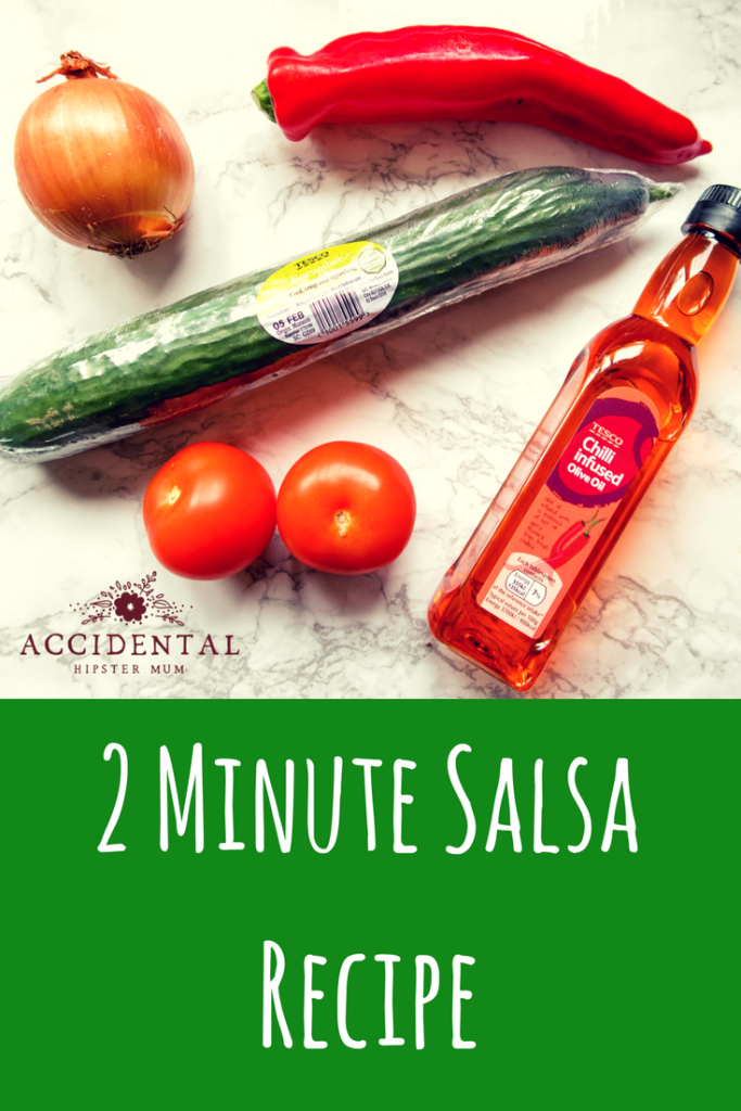 I created this easy tomato salsa recipe one day when I had very limited time. It takes around 2 minutes to make, and because the ingredients are fresh and not processed, it's low in calories.