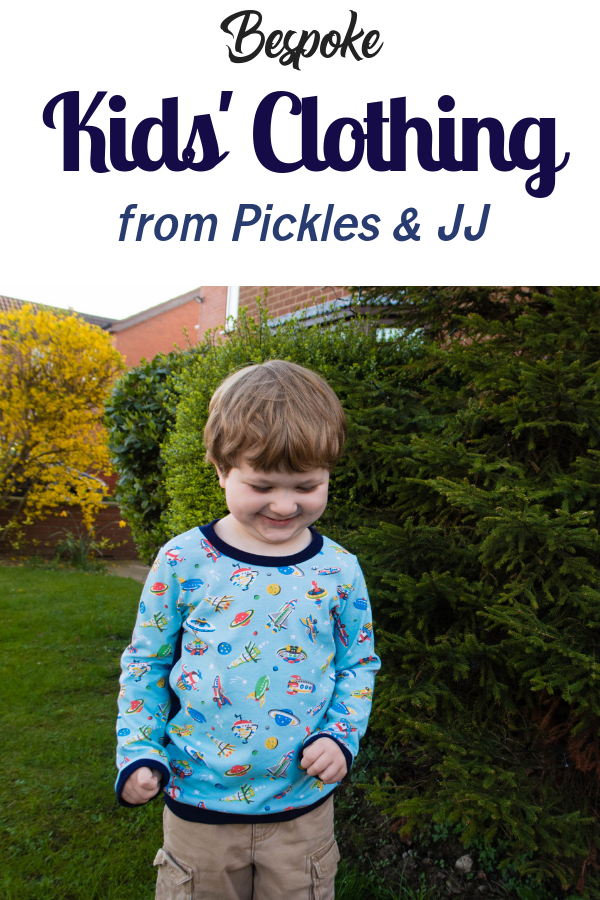Bespoke childrens clothing from Pickles and JJ review. Handmade childrens clothes for girls and boys, read more...