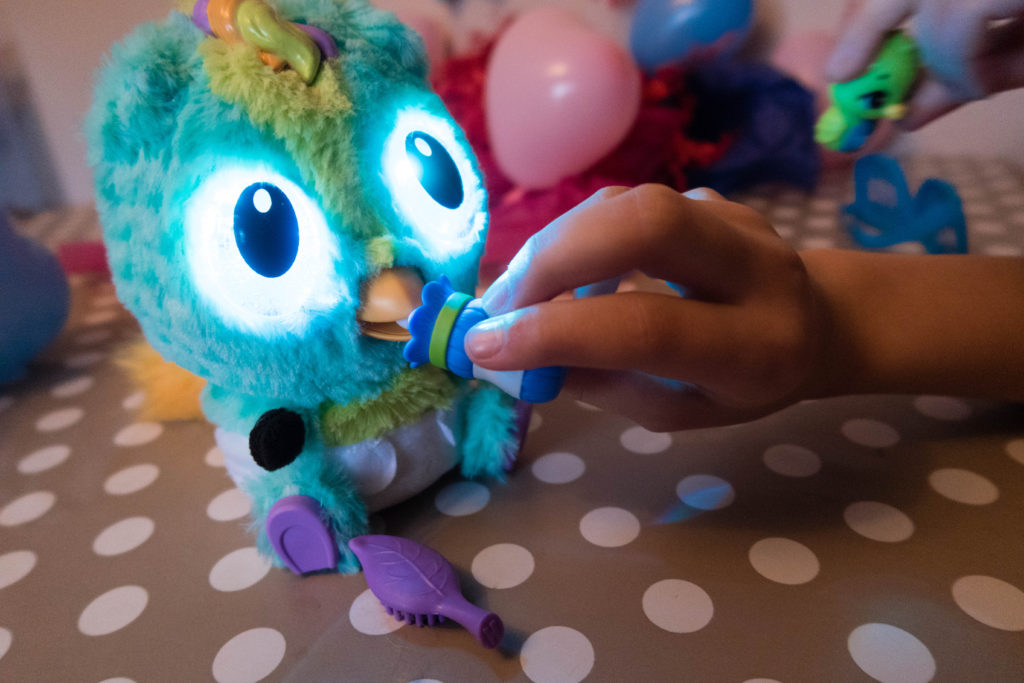 Hatchimals Hatchibaby drinking from its bottle