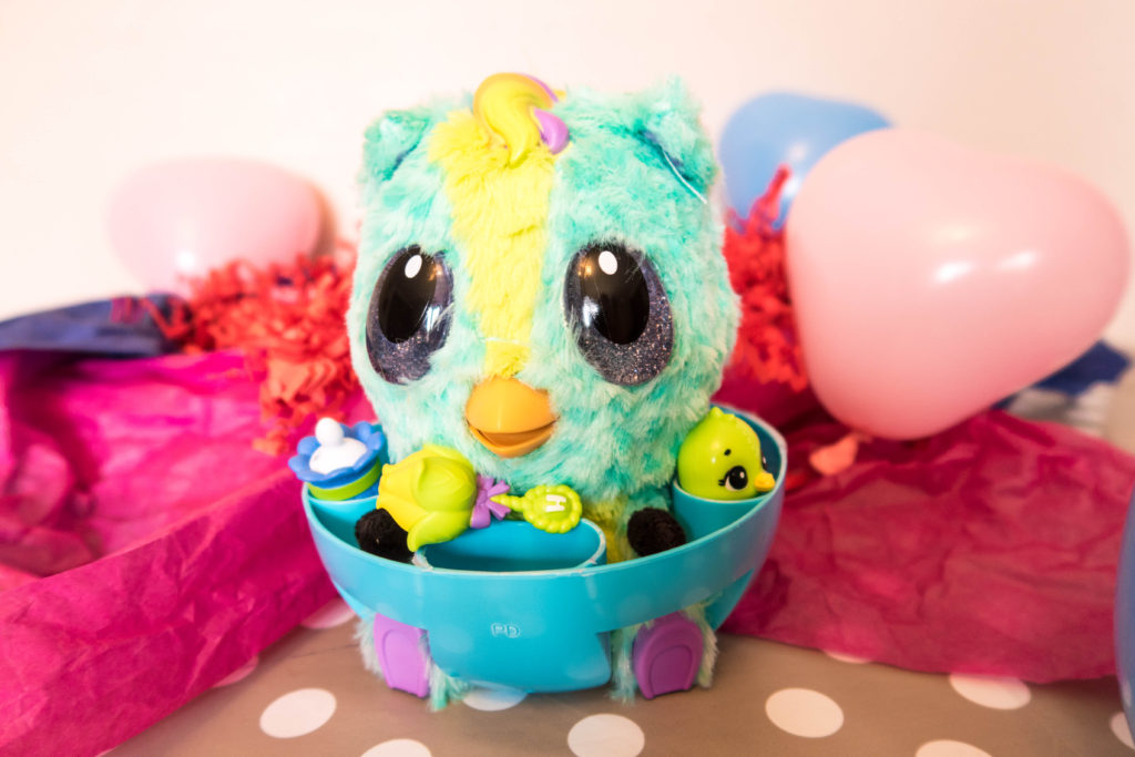 Hatchimal baby in high chair