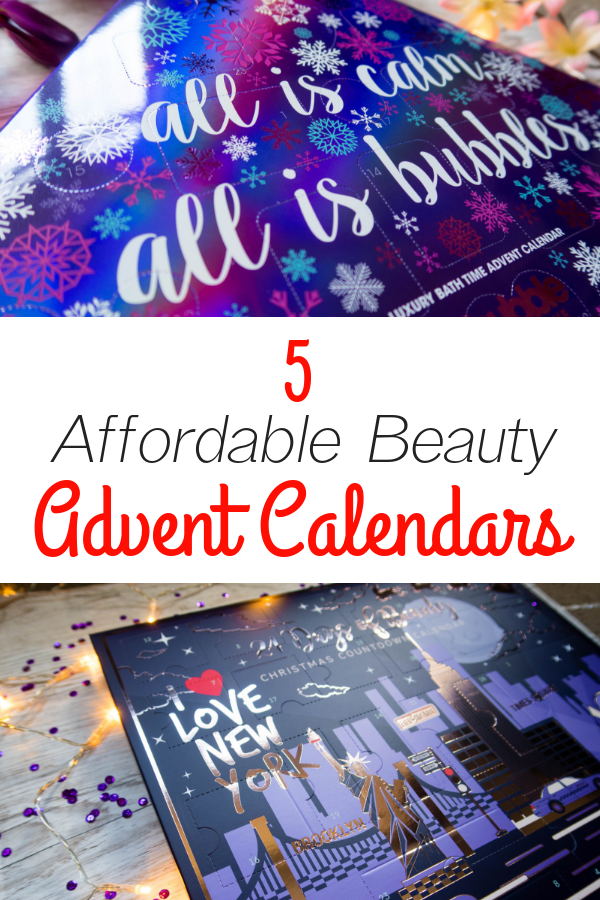 Beauty advent calendars are flying off the shelves this time of year, but they can cost quite a lot. That's why I've compiled a list of five affordable calendars that still have the wow-factor,but don't cost the earth! #christmas #adventcalendar