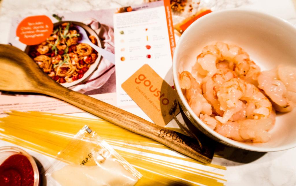 Chilli, Garlic & Jumbo Prawn Spaghetti