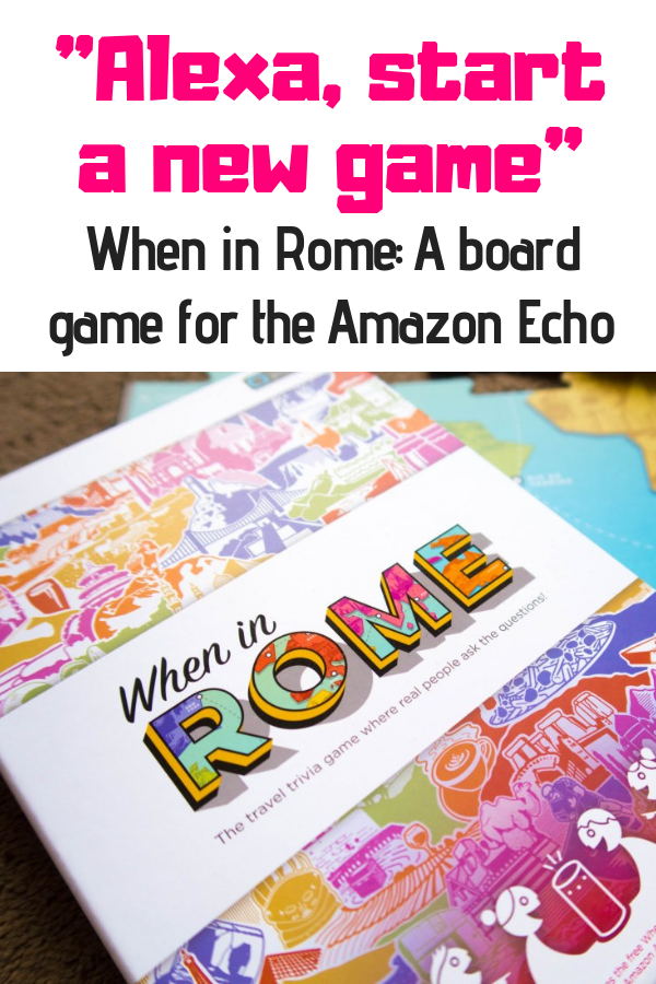 We're used to fun Alexa hacks for kids (and grown ups), but did you know the Amazon Echo can play a game with you? When in Rome is one of the first board games for Alexa. Read the full review here! #amazonecho #alexahacks #alexagames #echodot
