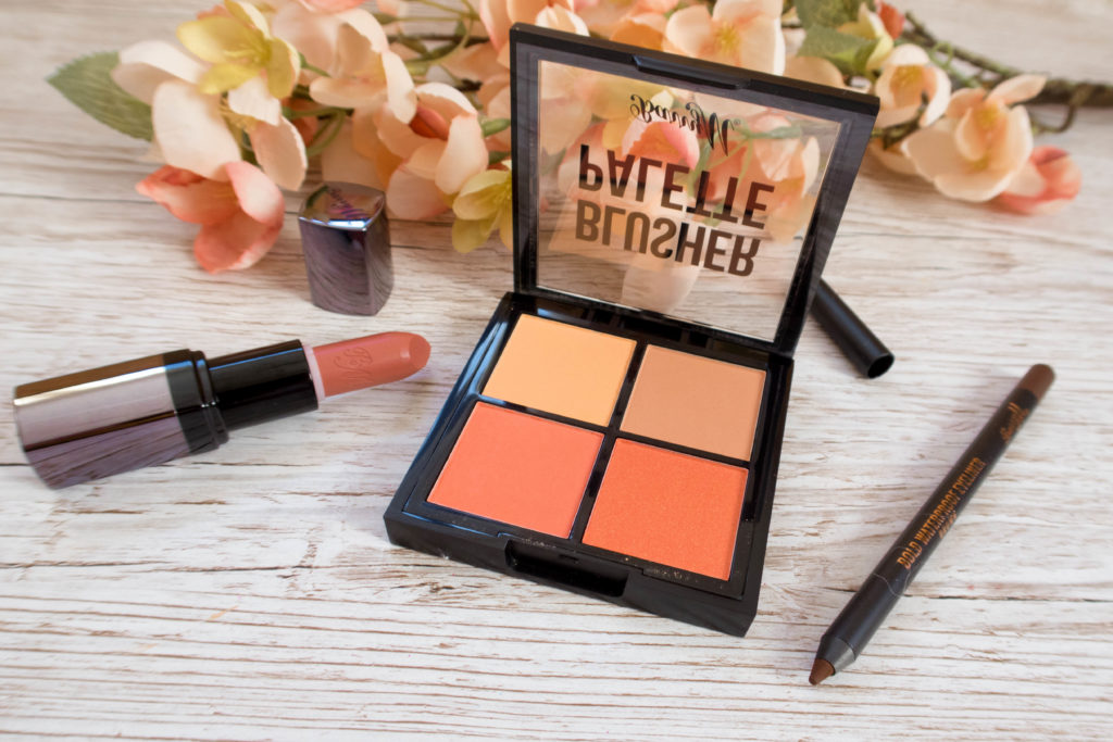 Barry M Blusher Palette, lip paint and eyeliner