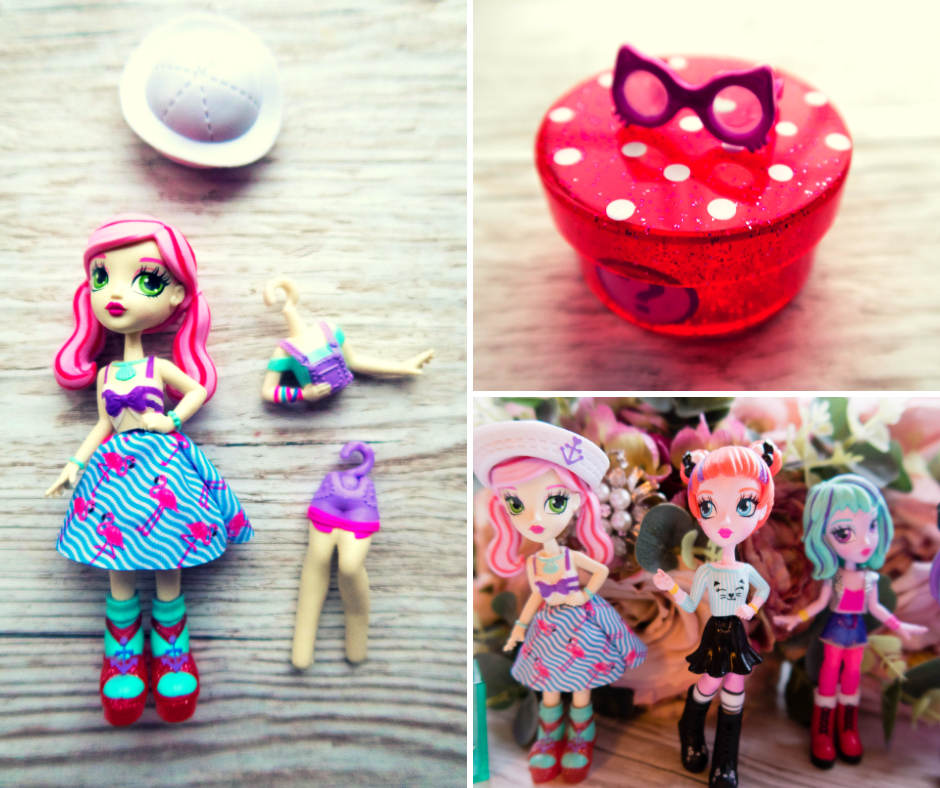 Off The Hook Style Dolls showing alternate bodies and legs as well as accessories