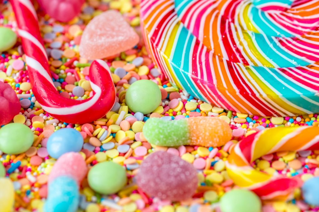 brightly coloured candy No-Cook Edible Gift Ideas