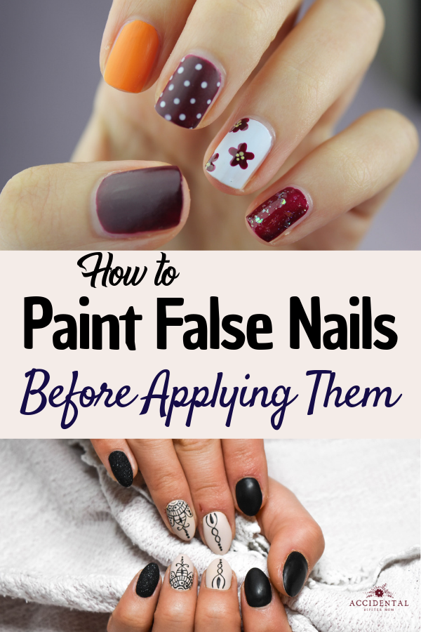 Ever wondered how to paint false nails before applying them at home? This guide tells you everything you need to know and how to keep costs low! #nailspo #nails #acrylic #falsenails #stilettonails