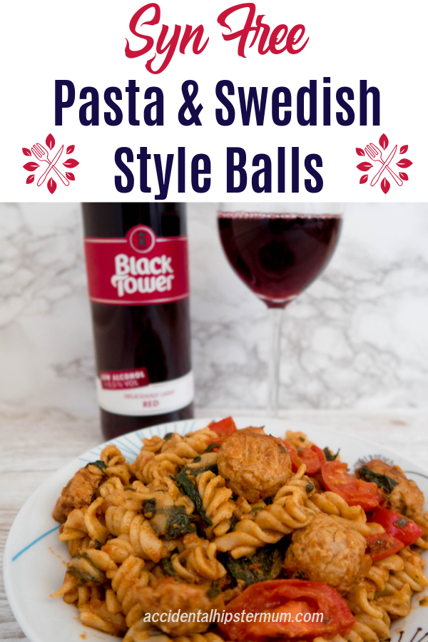 Slimming World friendly lunch and dinner idea: Syn free pasta and Swedish Quorn balls are easy to make and quick to prepare. Try them today or pin them for later!