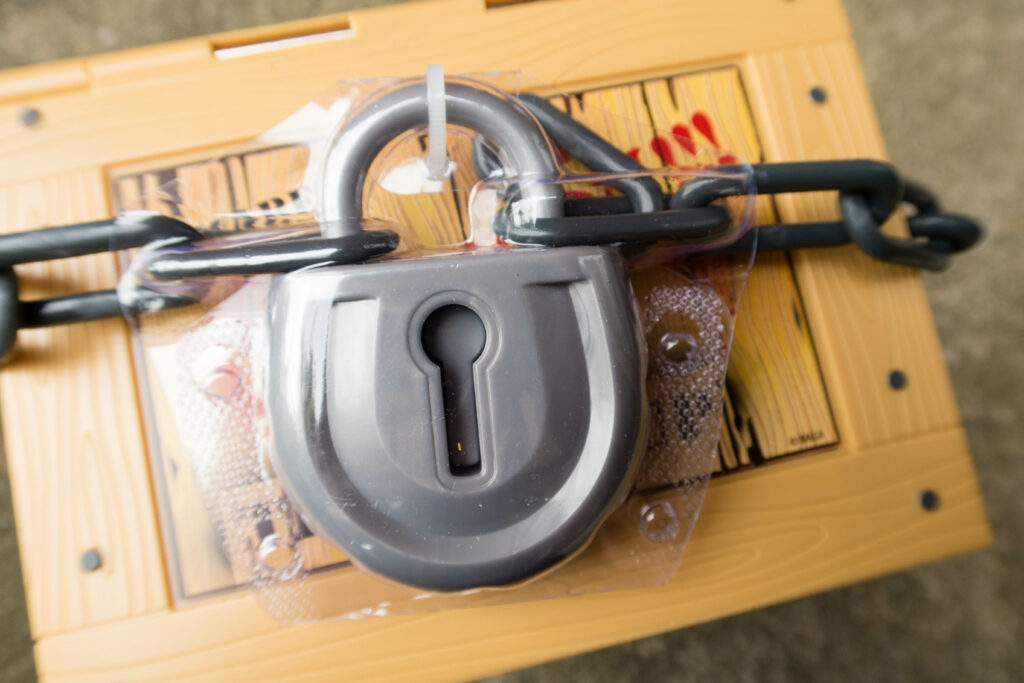 A Padlock seals or crate creature's crate