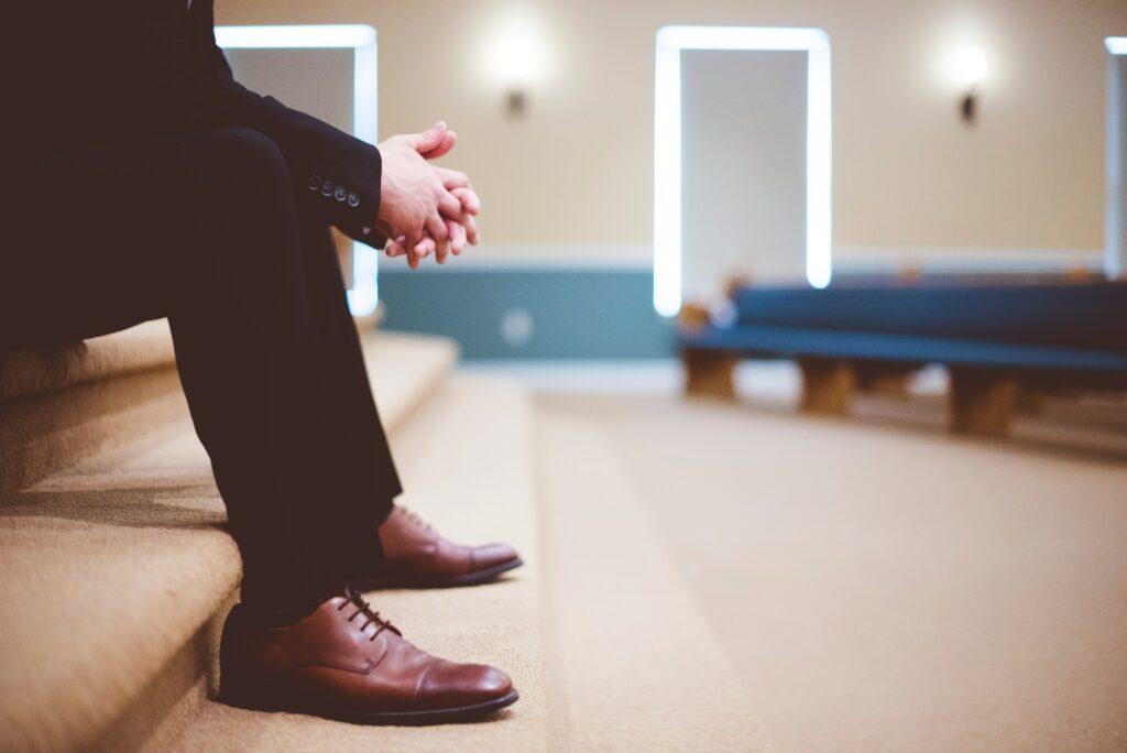 Suit shopping mens shoes