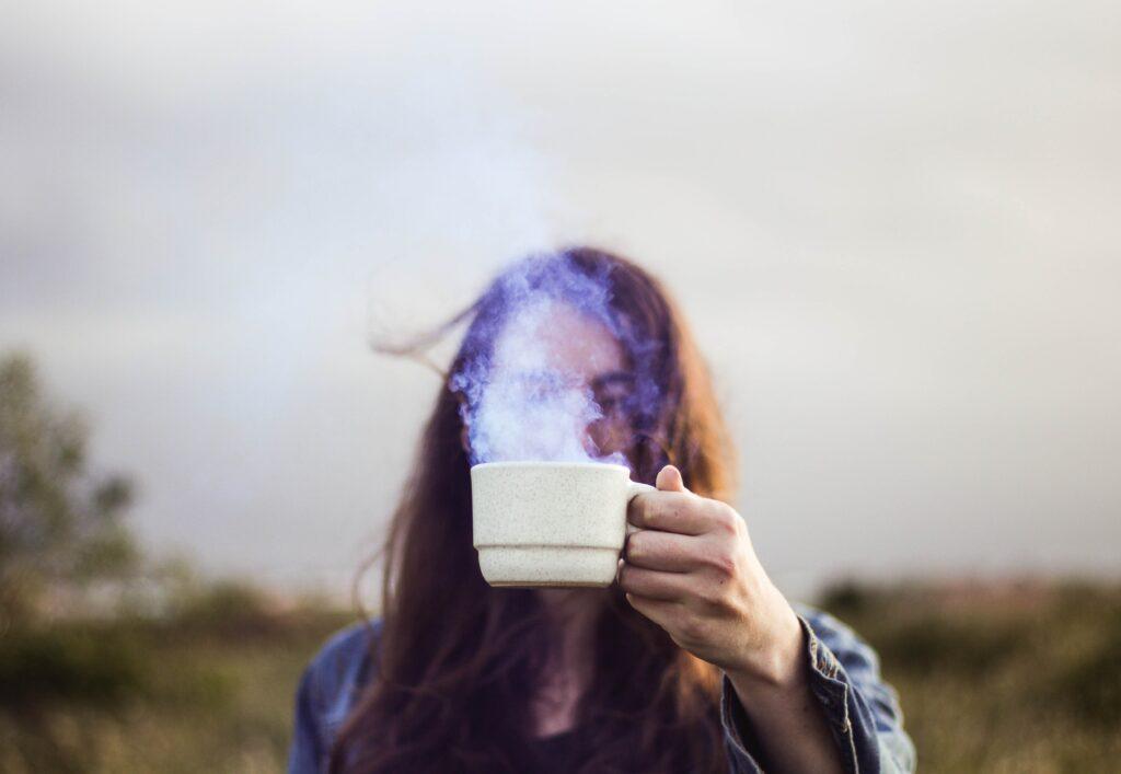 steam in a mug