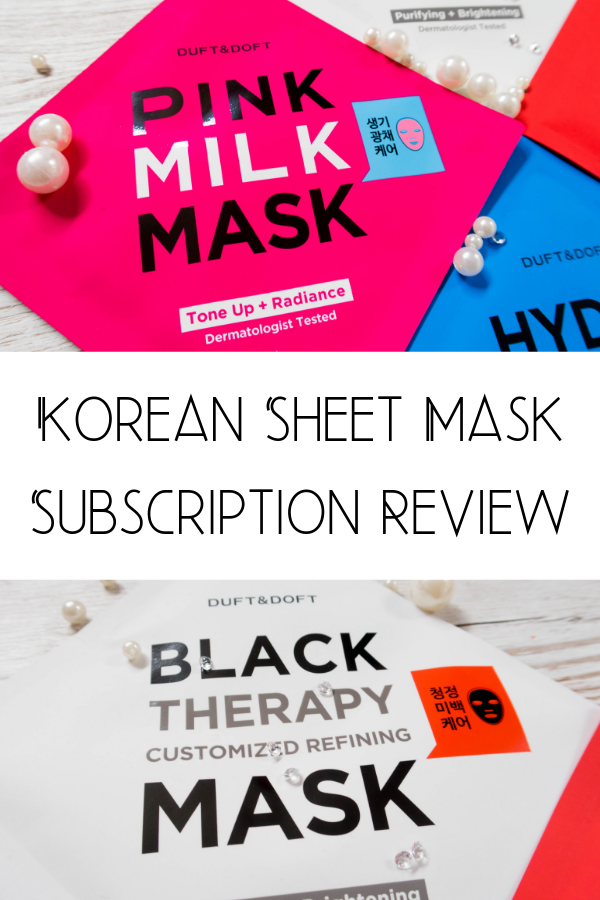 Korean beauty has taken the western beauty world by storm. Korean skincare is taking over and I got the chance to try a face mask subsciption box that contians Korean face masks. READ FULL REVIEW