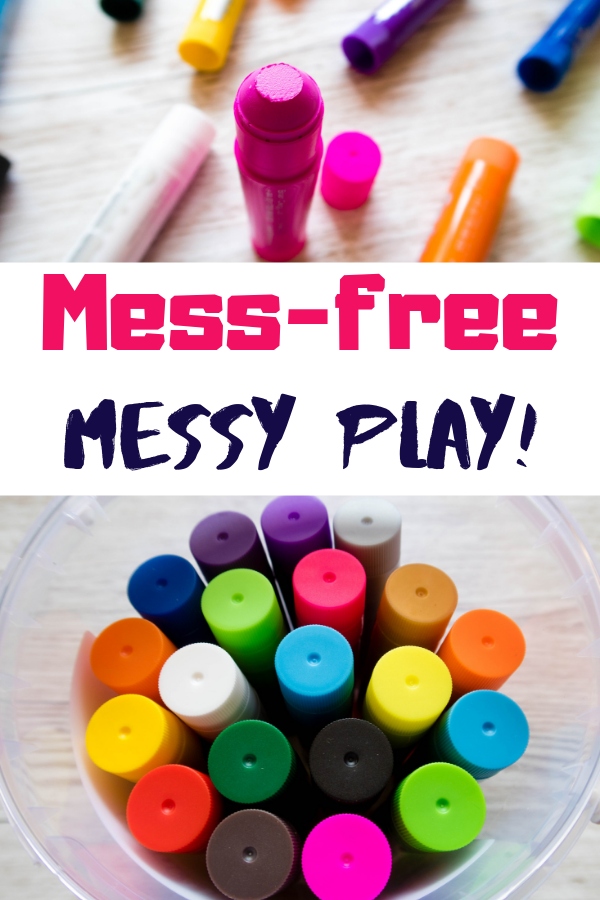Mess-free messy play can sound like an oxymoron, but fear not! The future is here! Read my full review of Little Brian Paint Sticks to see what I mean! #messyplay #learningthroughplay #homeschool
