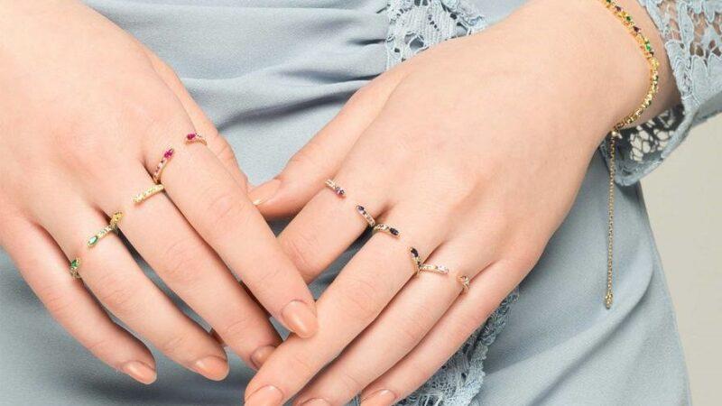 Stackable rings worn as singles